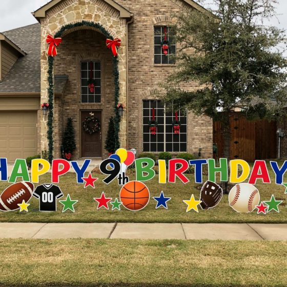 Happy 9th Birthday Yard Sign