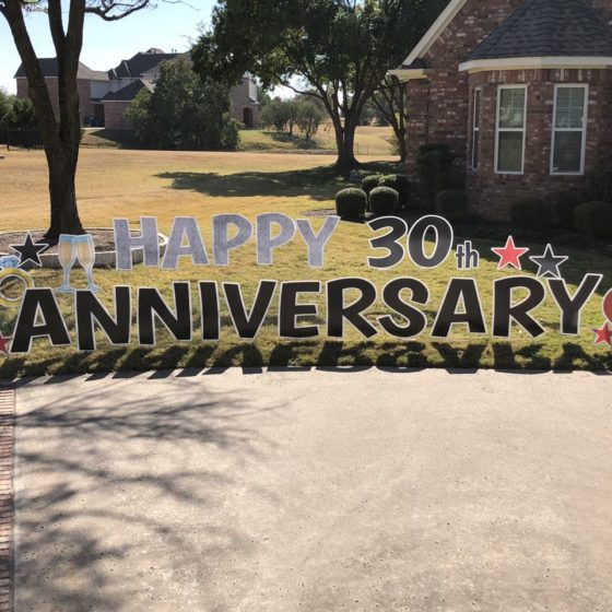 Happy 30th Anniversary Yard Greeting
