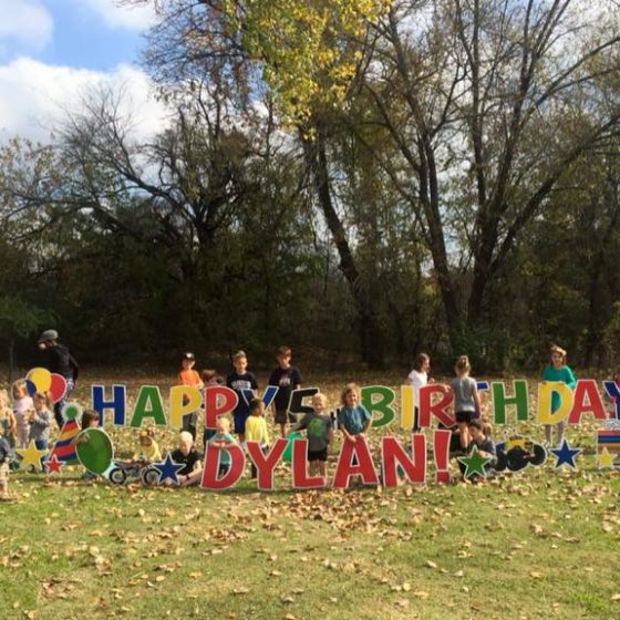 Happy 5th Birthday Yard Greeting for Dylan