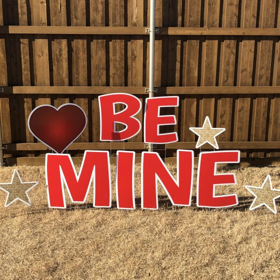 Custom Valentines Yard Sign
