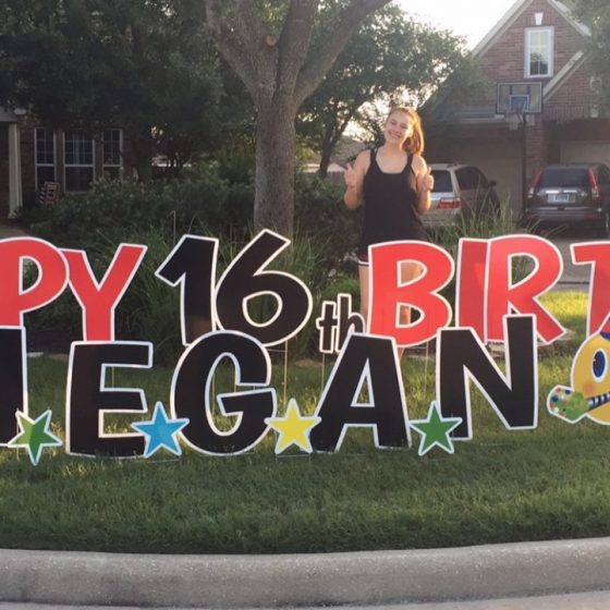 Happy-16th-Birthday-Megan-Yard-Sign-Yard-Greeting-Cypress-Texas