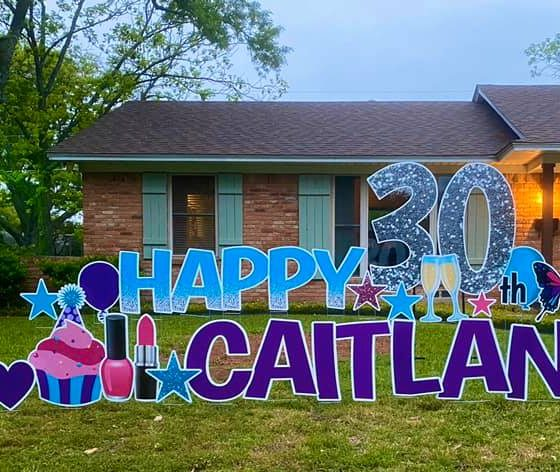 30TH BIRTHDAY MEGA YARD GREETING