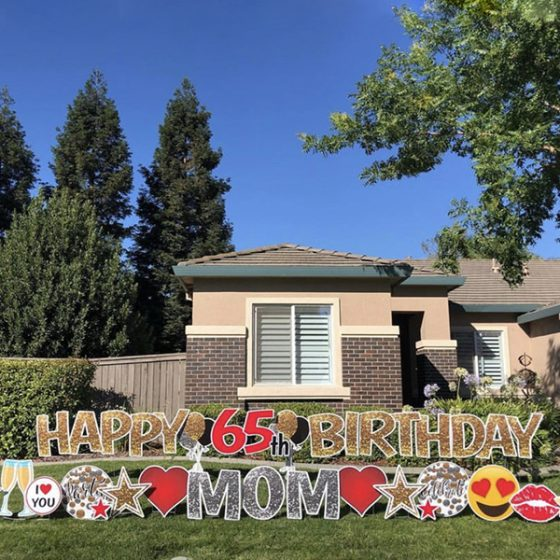 Happy Birthday Mom – Yard Greeting Rental