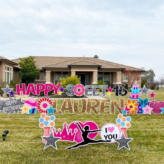 Happy Birthday Sweet 16 – Yard Greeting Rental