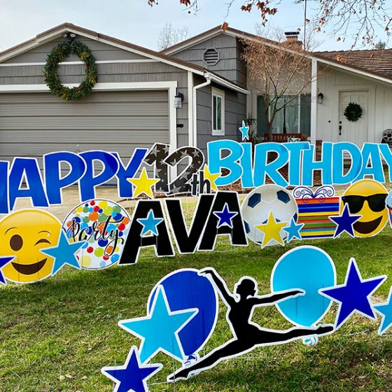 Happy Birthday for Girl – Yard Greeting Rental