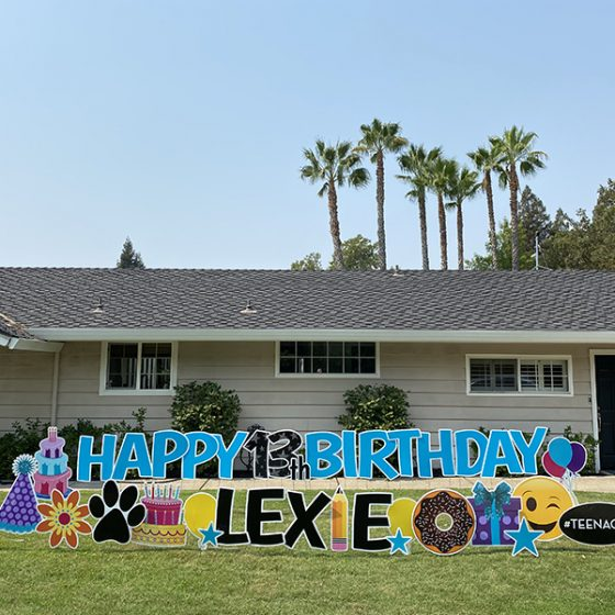 Happy Birthday for Teen – Yard Greeting Rental